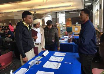 The teen job fair was held during spring break for the Milwaukee Public School System. (Photo by Evan Casey)