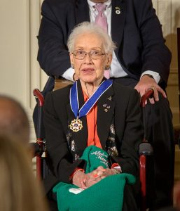 Former NASA mathematician Katherine Johnson is seen after President Barack Obama presented her with the Presidential Medal of Freedom, Tuesday, Nov. 24, 2015, during a ceremony in the East Room of the White House in Washington. (Photo: NASA/Bill Ingalls, Wikimedia Commons)