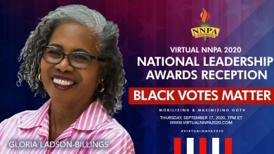 Photo of Dr. Ladson-Billings Earns 2020 NNPA Leadership in Education Award
