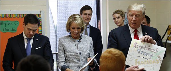 Where in the World Is Betsy DeVos? Track Her School Visits With Our New Tool
