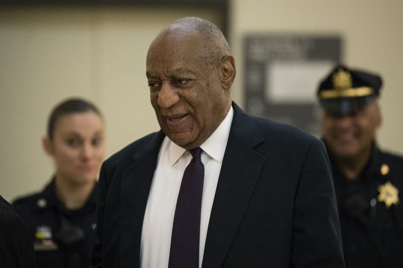 Bill Cosby walks to the courtroom during his sexual assault trial at the Montgomery County Courthouse in Norristown, Pa., Tuesday, June 6, 2017. (Pool Photo)