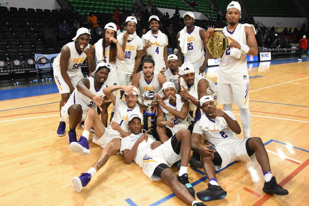 The Miles College Golden Bears Celebrate their first Conference Title/Courtesy Miles College