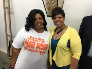 "Esther Cook-Jones' Orange Mound roots run seven generations deep. ""Just to see that we're finally getting the recognition we deserve . . . it touches my heart,"" she said, as she sported an Orange Mound pride shirt."