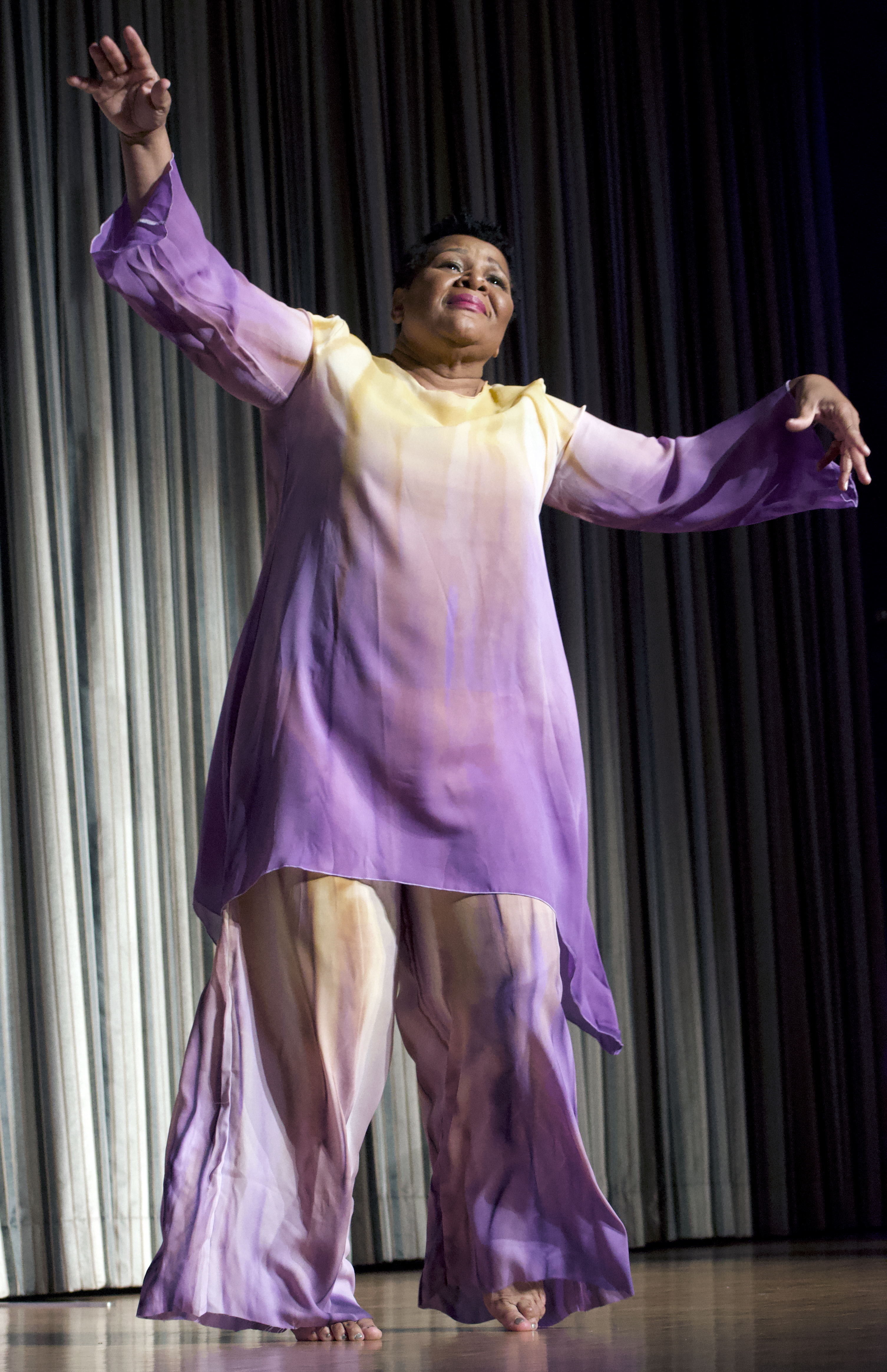 Alice Marie Johnson brought praise dance to the religious services where she was imprisoned in Forth Worth, Texas. During a recent celebration at The Peabody, she performed one of the dances. (Photo: Karanja A. Ajanaku)