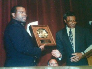 Receipt of the 2013 Congressional Black Caucus Braintrust Award, presented by Ron Armstead, Director, at Triumph Baptist Church, Philadelphia