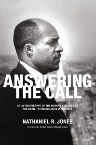 Judge Nathaniel Jones is shown in this cover photograph on his autobiography Answering the Call that was taken in his hometown of Youngstown about a month after he had served as deputy general counsel on the Kerner Commission. Provided.